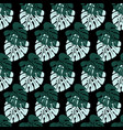 pattern with leaves on black vector image vector image