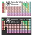 periodic table on a white-black background vector image