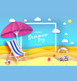 pink parasol - umbrella in paper cut style pink vector image vector image