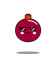pomegranate fruit cartoon character icon kawaii vector image vector image