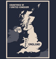 poster map countries united kingdom vector image vector image