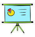 presentation screen icon icon cartoon vector image vector image
