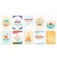 Ramadan kareem typographic cards design vector image