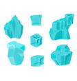 realistic ice caps snowdrifts and icicles broken vector image vector image