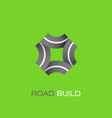 road build logo vector image
