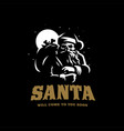 santa claus with a skull vector image