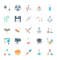 Science and Technology Colored Icons 4 vector image vector image