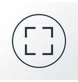screenshot icon line symbol premium quality vector image vector image