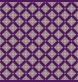seamless line thai gold pattern on purple vector image