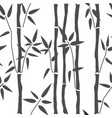 seamless pattern with bamboo vector image