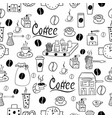 seamless pattern with coffee accessories vector image