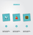 set of corsair icons flat style symbols with vector image vector image