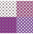 simple seamless pattern set - circle background vector image vector image