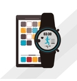 smart watch and smartphone design vector image vector image