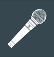 solid color stage microphone device vector image vector image
