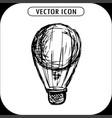 steampunk vintage hot air balloon hand drawn vector image