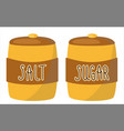 sugar and salt a cute character for the vector image