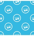 Sushi sign blue pattern vector image