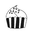 sweet cupcake icon vector image vector image