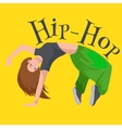 Teenager girl dancing hip hop style isolated