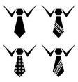 tie black symbols vector image vector image