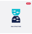 two color dna structure icon from future vector image