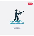 two color water ski icon from sports concept vector image vector image