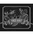 Vintage Farmers Market Signage vector image vector image