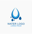 water logo design vector image