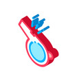 whistle for sports competition isometric icon vector image vector image
