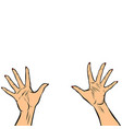 woman hands fingers high five vector image