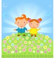 Fine sunny day vector image