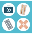 medical pharmacy medicine elements vector image
