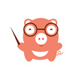 Funny character baby pig vector image