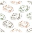 Seamless pattern chicken legs scetch vector image