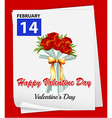 A calendar showing the 14th of February vector image vector image