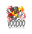abstract kid s style drawing for voodoo magic logo vector image vector image