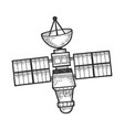 artificial satellite sketch engraving vector image