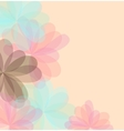 Background of stylized flowers for greeting cards vector image vector image