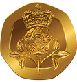 British money gold coin vector image vector image
