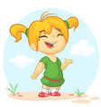 cartoon girl dancing vector image vector image