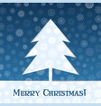christmas tree blue banner vector image