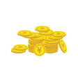 coin yuan finance growth logo vector image