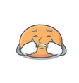 crying mochi mascot cartoon style vector image vector image