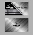 dark silver color business card image vector image vector image