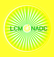 design lemonade glowing bright circle vector image