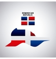 dominican republic country design vector image vector image