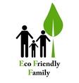 Eco friendly family vector image