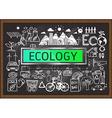 Ecology on chalkboard vector image vector image