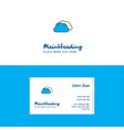 flat clouds logo and visiting card template vector image vector image